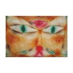 Impresión abstracta de la lona del gato del vintag impresion en lona