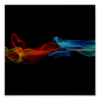 Impresión abstracta de la lona del humo