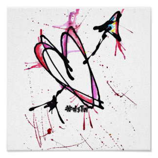 Impresión abstracta de la lona póster