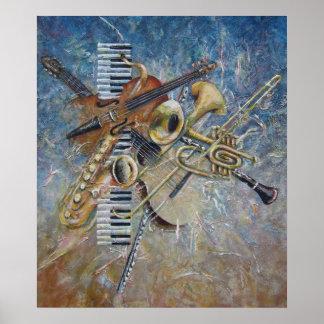 Impresión abstracta de la melodía poster