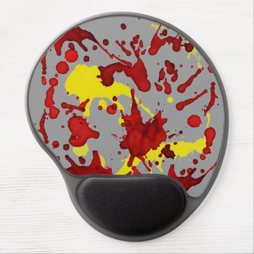 Impresión abstracta de la salpicadura en rojo y am alfombrilla con gel