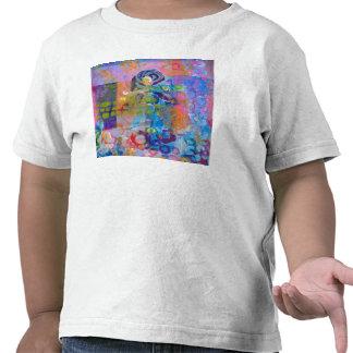 Impresión abstracta de la tela camisetas