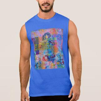 Impresión abstracta de la tela camisetas sin mangas