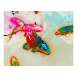 Impresión abstracta de los pescados impresiones