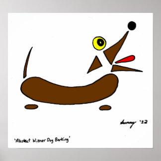 Impresión abstracta del perro de la salchicha de F Poster