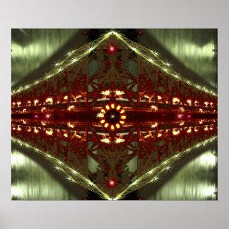 Impresión abstracta del poster de las luces del pu