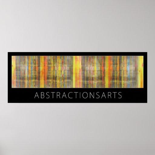 Impresión abstracta del poster de los artes modern