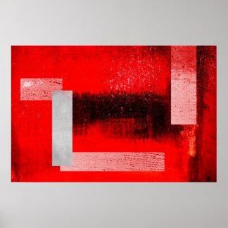 Impresión abstracta del poster del arte de los rec
