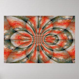Impresión abstracta del poster del arte del