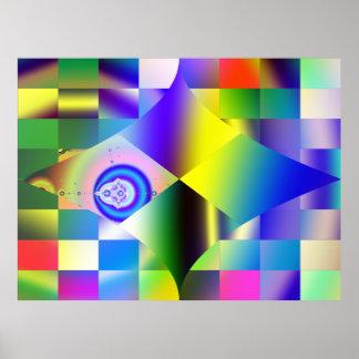 Impresión abstracta del poster del fractal