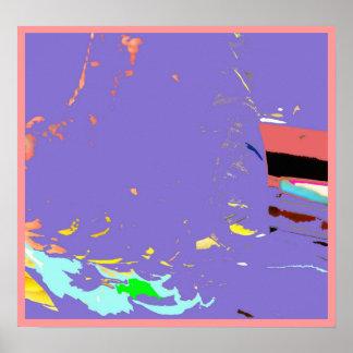 Impresión abstracta del poster del viaje de pesca
