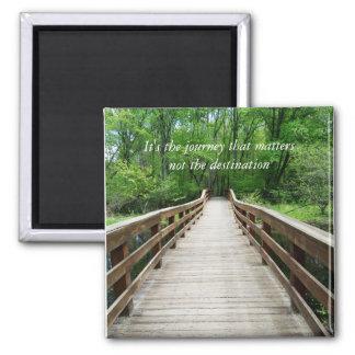 Impresión adaptable de la foto del puente de imán cuadrado