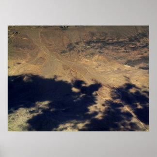 Impresión aérea del modelo del arte de la fotograf poster