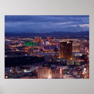 Impresión aérea del poster de la tira de Las Vegas