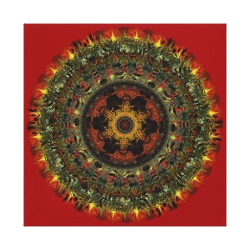 Impresión africana de la lona de la mandala de la  impresion de lienzo
