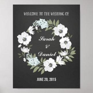 Impresión agradable blanco y negro del poster