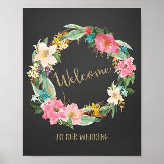 Impresión agradable del poster del boda de la