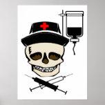 IMPRESIÓN alegre de la ENFERMERA del pirata de Rog Posters