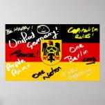 Impresión alemana del poster de la bandera
