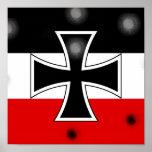 Impresión alemana imperial del poster de la bander