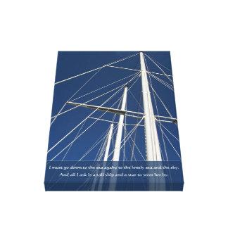Impresión alta náutica del aparejo del poema de la impresion en lona
