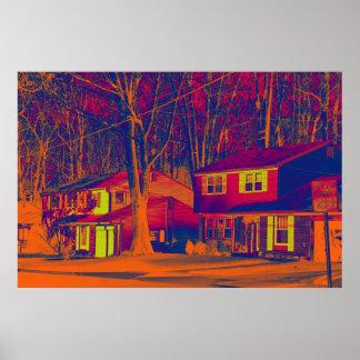 Impresión alterada áreas residenciales póster
