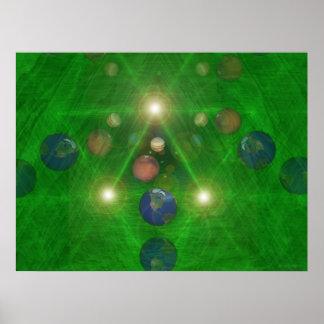 Impresión alterna de los universos poster