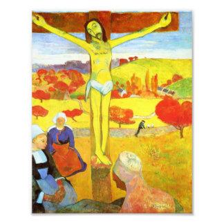 Impresión amarilla de Gauguin Cristo Arte Fotográfico