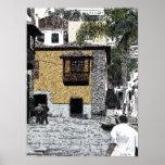 Impresión amarilla de la casa posters