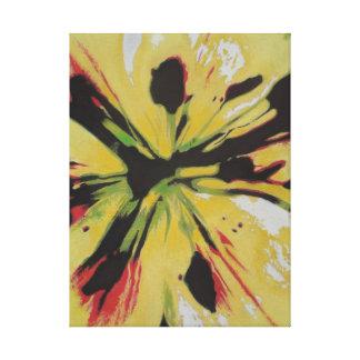 Impresión amarilla de la lona de arte abstracto de lona envuelta para galerias