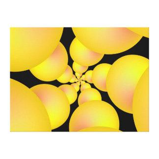Impresión amarilla de la lona del espiral de la es impresión de lienzo