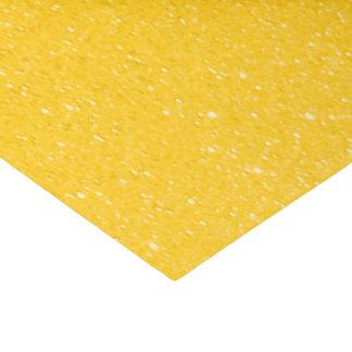 Impresión amarilla de oro del brillo papel de seda pequeño