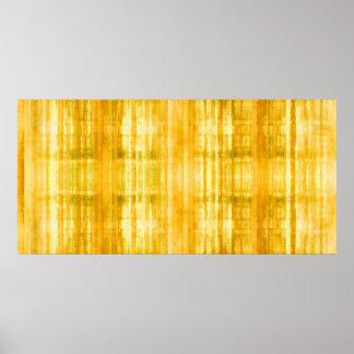 Impresión amarilla del poster de la pintura del co