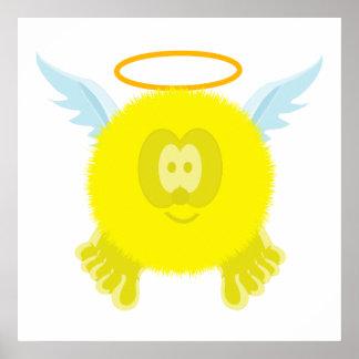 Impresión amarilla del poster de Pom Pom PAL del á