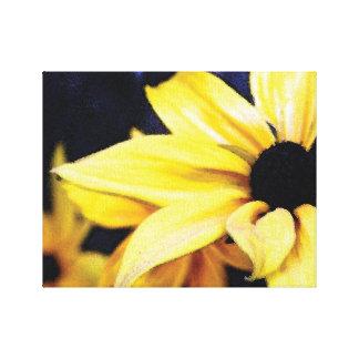 Impresión amarilla pintada hermosa de la lona de impresión en tela