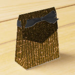 Impresión ambarina de las rayas del brillo del oro paquete de regalo