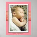 Impresión ambarina del nacimiento posters