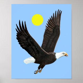Impresión americana de Eagle calvo