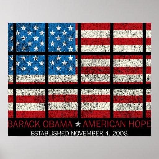 Impresión americana de la esperanza impresiones