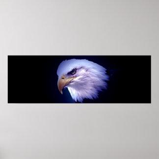 Impresión americana panorámica del poster de Eagle