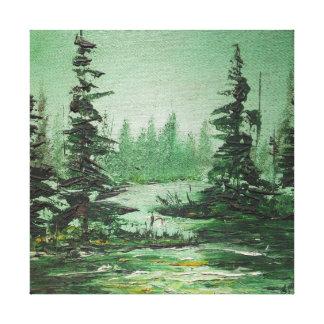 Impresión Ana Hayes de la lona que pinta el bosque