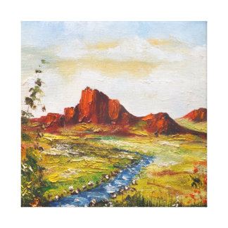 Impresión Ana Hayes de la lona que pinta la roca