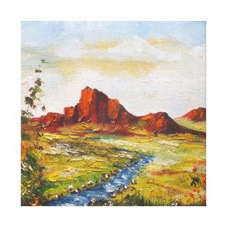 Impresión Ana Hayes de la lona que pinta la roca Impresion En Lona