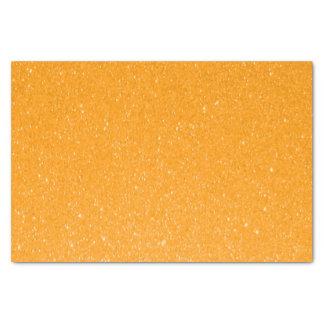 Impresión anaranjada clara del brillo papel de seda pequeño