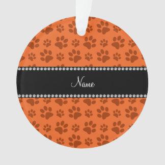 Impresión anaranjada conocida personalizada de la