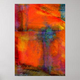 Impresión anaranjada de la bella arte