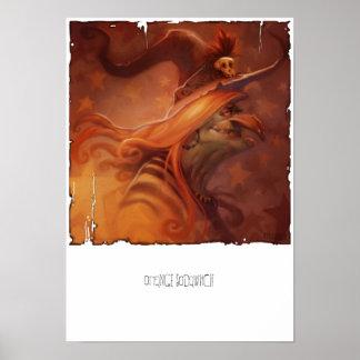 Impresión anaranjada de la lona de Sodawitch Impresiones