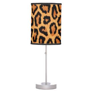 Impresión anaranjada de la piel del leopardo lámpara de mesa