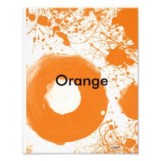 Impresión anaranjada del arte fotografías
