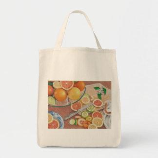 impresión anaranjada del dibujo de la exhibición bolsa tela para la compra